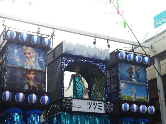 七夕飾り アナと雪の女王