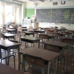 卒業式の日の教室