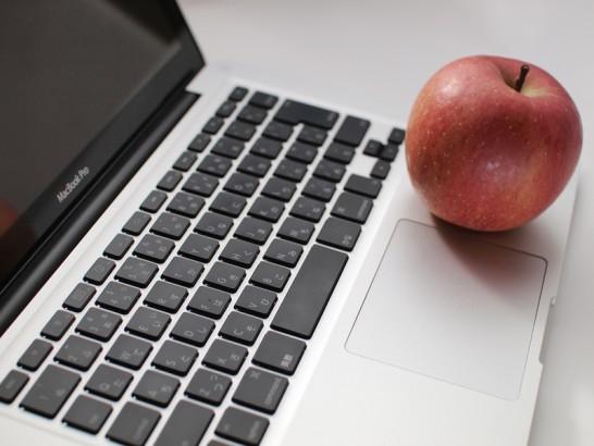 MacBookとりんご