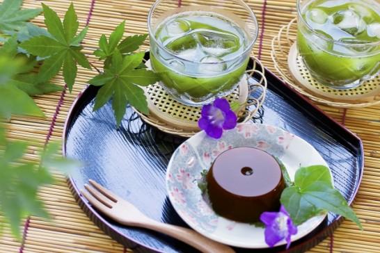 水ようかんと緑茶