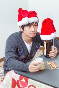 クリスマスに一人の男性